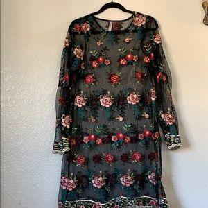 Sheer, floral dress